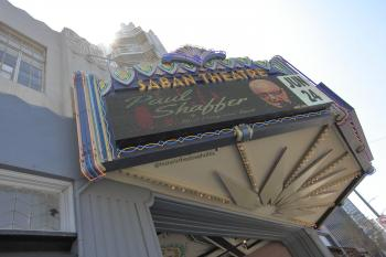 Saban Theatre, Beverly Hills: Underneath Marquee