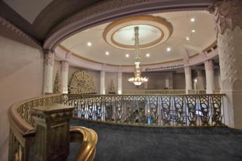Saban Theatre, Beverly Hills: Top of lobby stairs at Balcony level