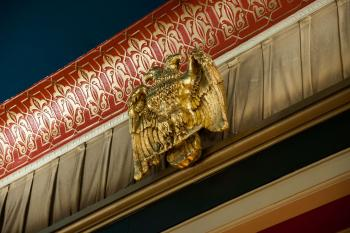 Masonic two-headed Eagle above Proscenium