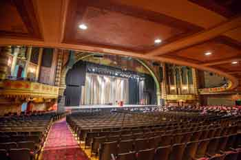 Shrine Auditorium, N. University Park: Stage Presentation from Orchestra cross-aisle