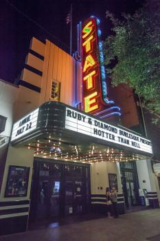 Stateside at the Paramount, Austin: Marquee at night