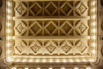 The 1898 ceiling, the only part of the auditorium to survive the 1917 renovation