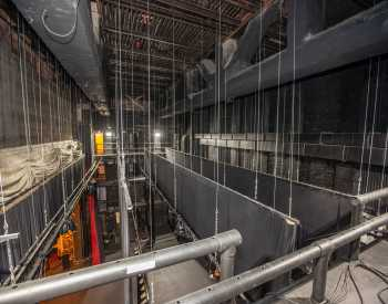Studebaker Theater: Fly Floor and Pin Rail, Stage Left