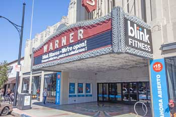Warner Theatre, Huntington Park: Marquee From Side