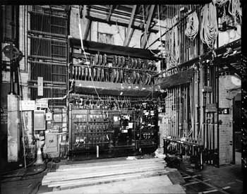 Lighting Switchboard, located Down Stage Right, courtesy Library of Congress (JPG)