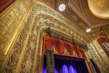 Warner Theatre, Washington DC: Proscenium Top from House Left Box