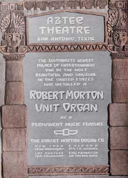 Robert Morton advertisement celebrating the organ installation at the theatre, from the 21st May 1927 edition of <i>Exhibitors Herald</i>, held by the Museum of Modern Art Library New York and scanned online by the Internet Archive (JPG)