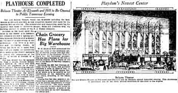 Technical overview of the new Belasco Theatre as published in the 31st October 1926 edition of the <i>Los Angeles Times</i> (1.4MB PDF)