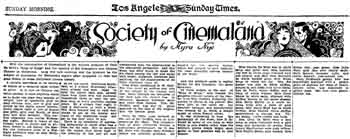 Review of the theatre's opening night as published in the 22nd May 1927 edition of the <i>Los Angeles Times</i> (1.4MB PDF)