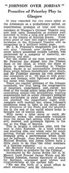 Review of the opening night of the Citizens Theatre as printed in the 12th September 1945 edition of <i>The Scotsman</i> (280KB PDF)