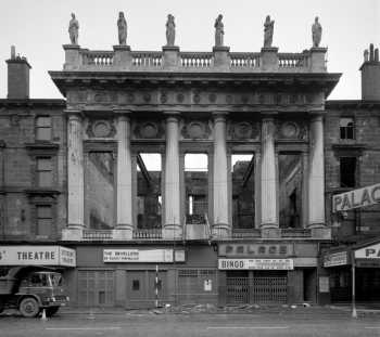 The Gorbals Street façade in 1977 mid-demolition, courtesy Canmore / Historic Environment Scotland (JPG)