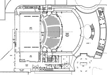 Plan of theatre circa 2006