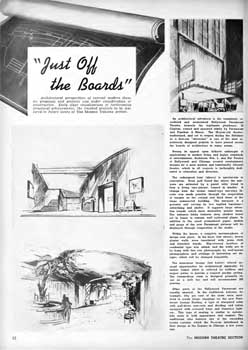 Feature on proposals for the theatre's early 1940s renovation from the 3rd January 1942 edition of <i>BoxOffice</i> magazine (630KB PDF)
