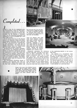 Feature on the theatre's early 1940s renovation from the 25th April 1942 edition of <i>BoxOffice</i> magazine (640KB PDF)