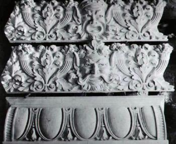 Original Moldings for the theatre by Hannibal Pianta (JPG)