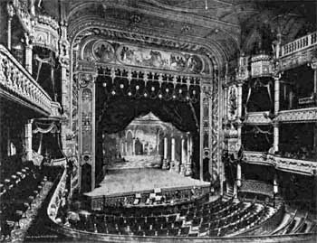 The Empire Palace Theatre auditorium (opened 1892) designed by Frank Matcham, as printed in the 11th May 1911 edition of <i>Illustrated London News</i> (JPG)