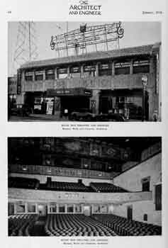 Single-page photo feature of the exterior and interior from the January 1928 edition of <i>The Architect and Engineer</i> (500KB PDF)