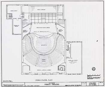 Ford's New Theatre (1968) reconstructed Family Circle level; courtesy University of Georgia and scanned online by the Internet Archive (JPG)