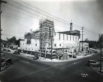 The Fox Bakersfield under construction on August 30th, 1930 (JPG)