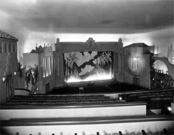 1946 view of the Stage from just behind the Balcony cross-aisle, from the Security Pacific National Bank Collection held by the Los Angeles Public Library (JPG)