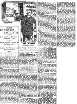 Review of opening night, as printed in the 7th January 1913 edition of the <i>Los Angeles Times</i> (270KB PDF)