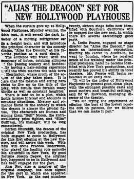 News of the new playhouse as printed in the 2nd January 1927 edition of the <i>Los Angeles Times</i> (70KB PDF)