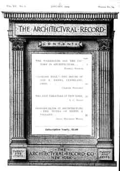 Four-page photo feature as published in the January 1904 edition of <i>Architectural Record</i>, digitized by USModernist (2.2MB PDF)