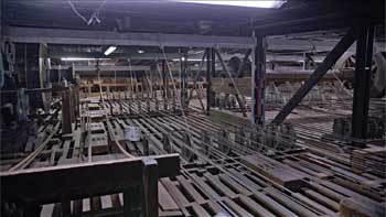 View of the Grid from Upstage Right as seen in the 2017 redevelopment campaign video, showing the 1906 Drum & Shaft mechanism for changing scenery (JPG)