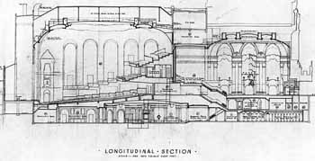 Longitudinal Section, from the S. Charles Lee archive held by UCLA (JPG)