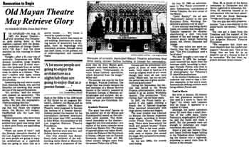 News of the theatre's last movie screening and the intention to convert it to a nightclub, as published in the 11th June 1989 edition of the <i>Los Angeles Times</i> (2.2MB PDF)