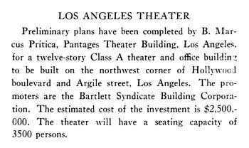 Building announcement from the January 1929 edition of <i>Architect &amp; Engineer</i>, held by the San Francisco Public Library and published online by the Internet Archive (90KB PDF)