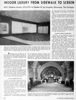 2-page feature in the 9th May 1960 edition of <i>Boxoffice</i>, detailing the theatre's modernization completed late 1959 (3MB PDF)