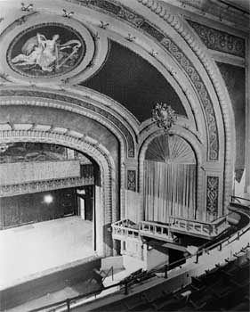 Auditorium, date unknown but post 1940s, note some semblance of the Opera Boxes has been returned (JPG)