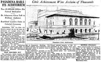 Announcement of the opening and review of the first night's dedication and festivities as reported in the 16th February 1932 edition of <i>The Los Angeles Times</i> (1.3MB PDF)