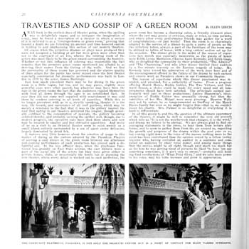 """California Southland"" (April 1926) discussing ""unheard"" tales from the Green Room, held by the California State Library and scanned online by the Internet Archive (1 page; 570KB PDF)"