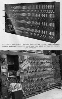 "Trumbull ""Controlite"" stage lighting switchboard, comparison between 1925 and 2018 (JPG)"