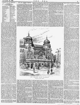 Report of the opening of the theatre as printed in the 16th September 1899 edition of <i>The ERA</i> (2.8MB PDF)