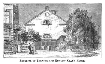 The second theatre to be built on the site, opened in 1765 and demolished in 1884 (JPG)