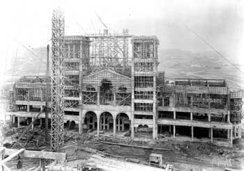 Royce Hall under construction in 1928, courtesy Water and Power Associates (JPG)
