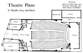 Plan of the Fox Wilshire, as featured in the 28th December 1929 edition of <i>Motion Picture News</i>, courtesy Media History Digital Library (JPG)