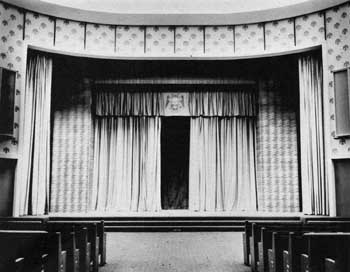 Cobb Auditorium Stage following 1965 remodel; courtesy Scottish Rite Cathedral Association of Pasadena, Inc. (JPG)