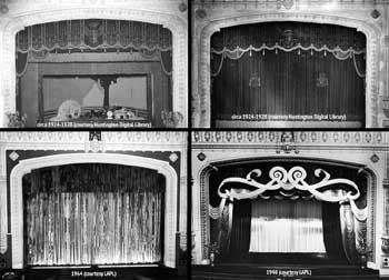 Composite of proscenium decoration over the years (JPG)