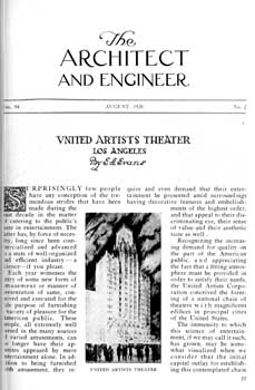 9-page feature in the August 1928 edition of <i>Architect and Engineer</i>, held by the San Francisco Public Library and published online by the Internet Archive (4.2MB PDF)