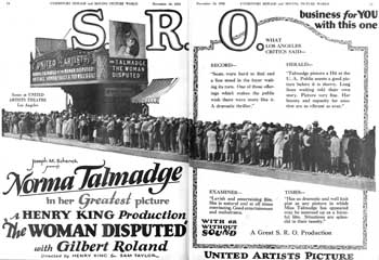 "Advertisement featuring the theatre from ""Exhibitors Herald and Moving Picture World"" (10th November 1928), held by the Library of Congress and scanned online by the Internet Archive (600KB PDF)"