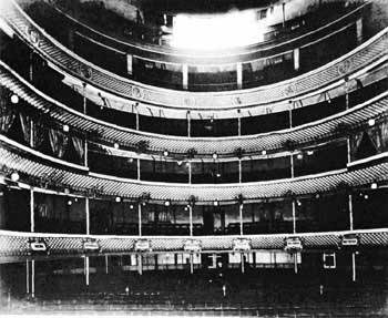 Galleries of the Theatre Royal as photographed circa 1897, from the Raymond Mander and Joe Mitchenson Theatre Collection, via British History Online (JPG)