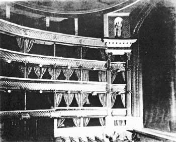 Auditorium circa 1897, from the Raymond Mander and Joe Mitchenson Theatre Collection, via British History Online (JPG)