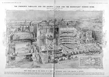 Diagram of the theatre from the <i>Illustrated London News</i> (31 December 1910), from the British Newspaper Archive (JPG)