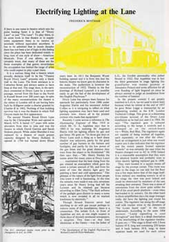 4-page feature on the various lighting systems installed at the Theatre Royal Drury Lane, from the Summer 1977 edition of <i>Tabs</i> (2.6MB PDF)