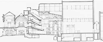 Cross Section of the 1922 building, courtesy Greater London Council via British History Online (JPG)