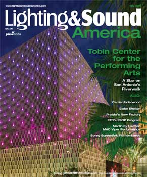 May 2016 feature on the Tobin Center by <i>Lighting &amp; Sound America</i>; 9 pages (4.2MB PDF)